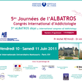 5èmes Journées de l'Albatros - Congrès international d'<b>addictologie</b>