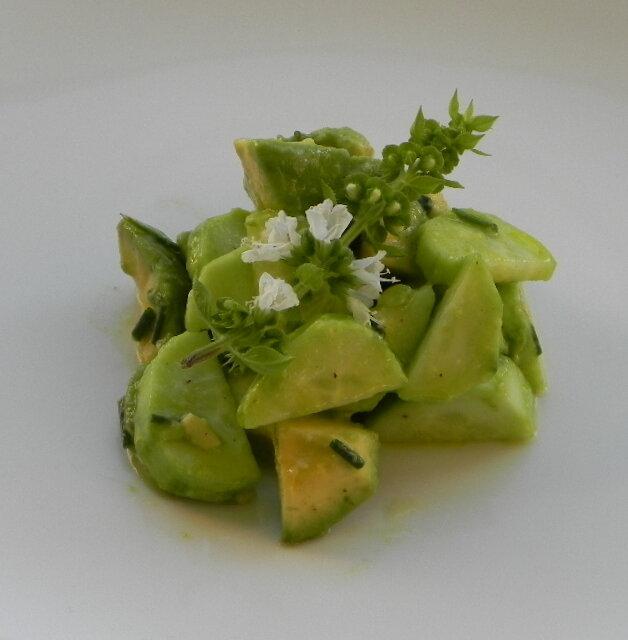 Salade avocat et concombre