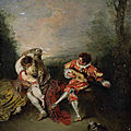 Antoine watteau's magnificent picture la surprise on loan to the frick collection