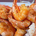 Crevettes citron vert et gingembre au barbecue ou à la plancha