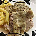 {recette} filet mignon à la moutarde & crème - cocotte en fonte