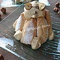 Mini-charlottes caramel noisettes