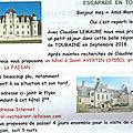 <b>ESCAPADE</b> EN TOURAINE, UN RENDEZ VOUS POUR LES ANCIENS DE MARRAKECH - 6-11 SEPTEMBRE