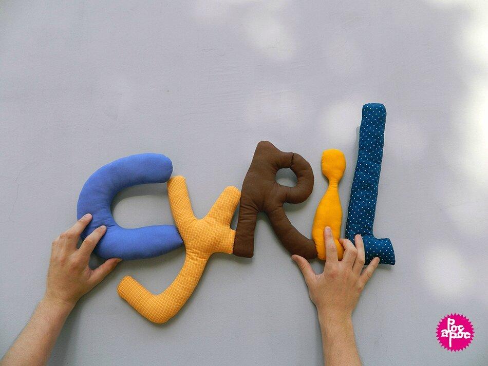 cyril,mot en tissu,mot decoratif,cadeau de naissance,decoration chambre d'enfant,cadeau personnalise,cadeau original,poc a poc blog