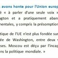 """Info: La guerre (<b>économique</b>) va commencer avec la <b>Russie</b>. Moscou : """"Nous avons honte pour l'Union européenne""""."""