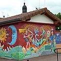 ♥ mur peint devant le jardin des amours ; ville-la-grand ♥