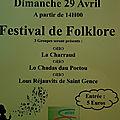 Festival de folklore à saint-gence le 29 avril 2018