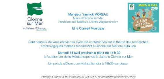 Carton d'invitation- Samedi 14 avril 2018 - Conférences sur les recherchers archéologiques récentes menées à Olonne sur Mer(5)