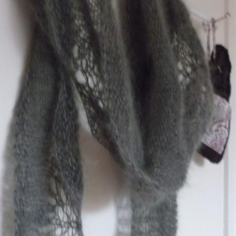 Abyssal shawl #2 en silk mohair