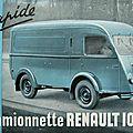 Renault 1 000kg voltigeur ou goélette.