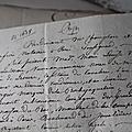 Découverte d'archives de la rochejaquelein