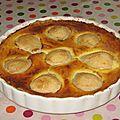 Tarte poire praliné, pâte à tarte sans gluten ni oeuf.