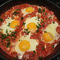 Poêlée de tomates aux oeufs