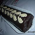 Bûche à la mousse de chocolat