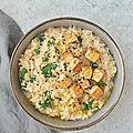 Porridge {<b>miso</b>, kale & tofu aux graines} #vegan #glutenfree