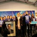 les jeunes sur scène avec MAM pour la Marseillaise