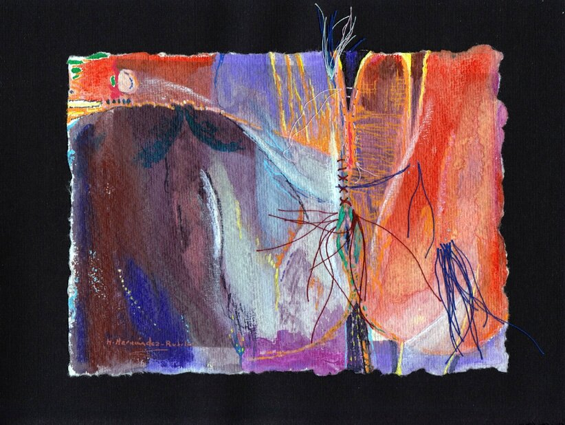 "Art Abstrait Contemporain - H.Hernandez-Rubilar ""HH"" - Arte abstracto contemporáneo"