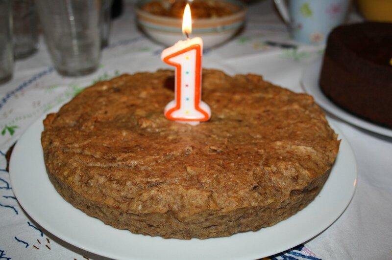 G teau d 39 anniversaire pour b b vegan sans sucre sans gluten enfant v g - Gateau d anniversaire sans gluten ...
