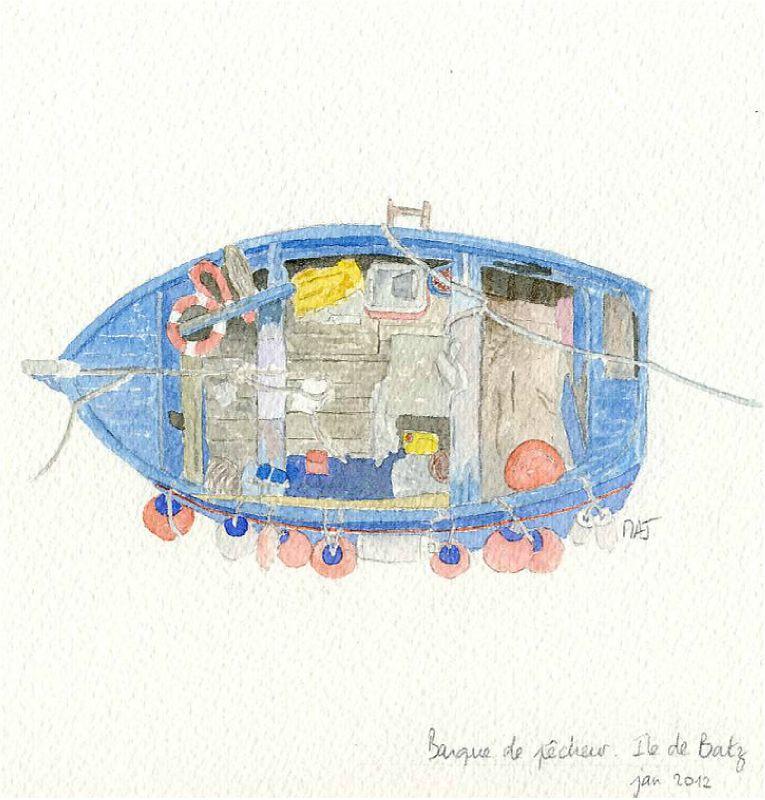 Barque de pêcheurs - ile de Batz