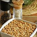 Crumble patate douce & comte