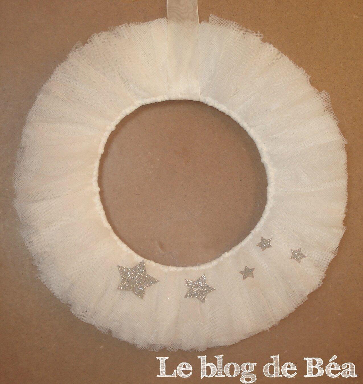DIY couronne de Noël en tulle