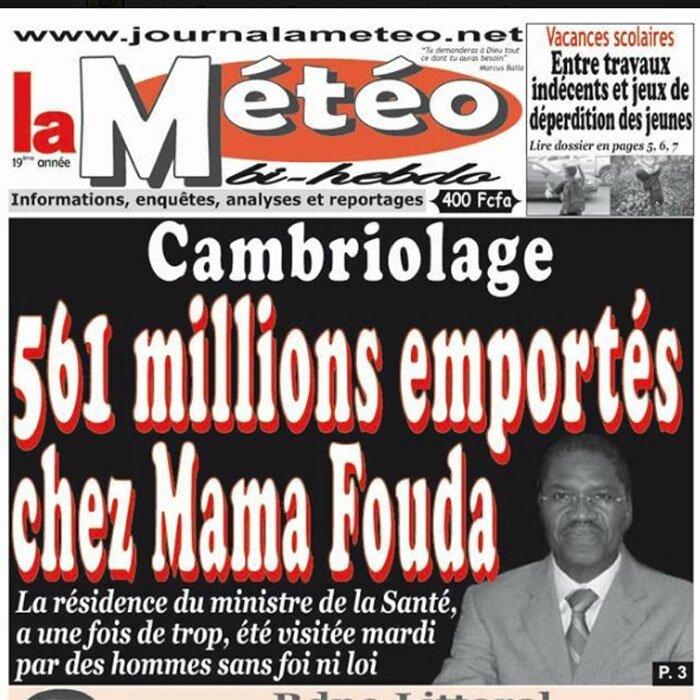 561 millions de FCFA emportés chez un ministre : Le Cameroun est-il devenu un Gymkhana des voleurs de la république ?