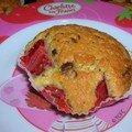 Muffin fraise chocolat