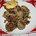 Boulettes de viande suédoises (köttbullar)