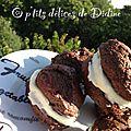 Whoopie pies chocolat crème <b>kiri</b>