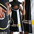 Jaune citron et jeux bicolores... une robe qui nous invite dans un monde d'illusions optiques !