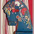 Cheval bascule bois peint (détail) 100x66x35cm