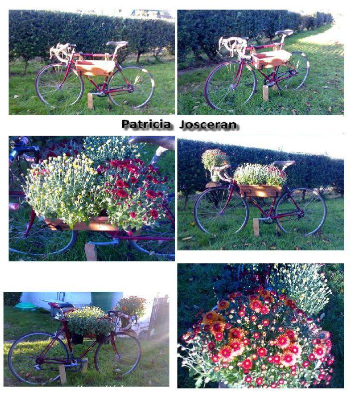 Recyclage d\'un vélo en déko de jardin - * Briko & Déko fait Maison *