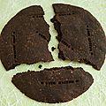 Biscuit oréo géant diététique protéiné au cacao noir (végan, complet, riche en fibres, sans oeuf ni sucre ni beurre ni lait)