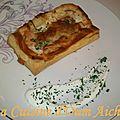 Feuilleté au saumon/crème fraiche