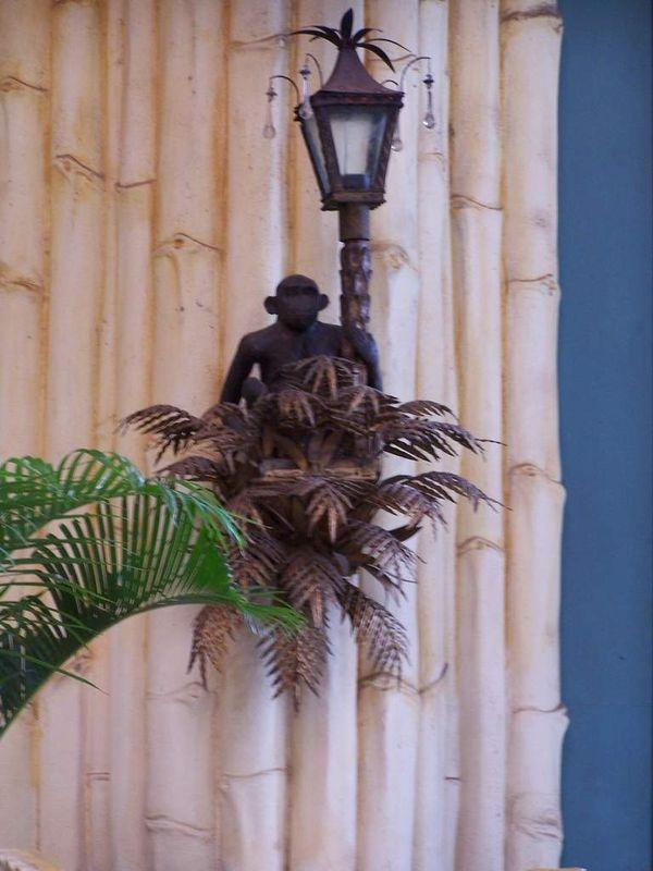 Lumiere exterieur ' singe en bronze '