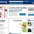 blog à la Une sur canalblog