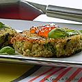 Galettes de quinoa et d'épinards, sans gluten