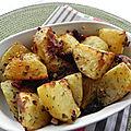 Pommes de terre rôties à l'ail et aux tomates séchées, sans gluten et sans lactose