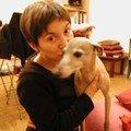 Louks fraîchement adopté, et moi, décembre 2004