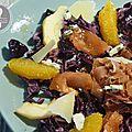 Salade de <b>chou</b> <b>rouge</b>, orange et pomme