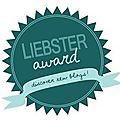Liebster award : wahouuu!