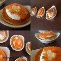 Blinis au saumon et maquereaux fumes