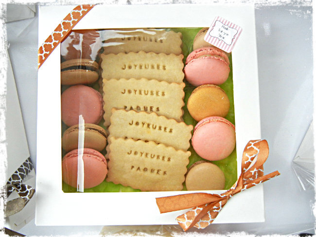 coffret macarons paques prunillefee