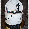 Gâteau double thème om / girly