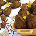 Madeleines chocolat, gingembre et poivre blanc