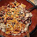 Riz au poulet et oranges grillees