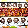Tarte abricots - framboises et ses fondants