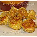 Brochettes de dinde marinées