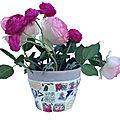 Kit pot de fleurs en mosaïque de vaisselle