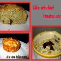 Cake artichaut et tomates séchées de christophe felder